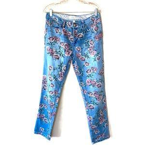 Vintage America Rose Printed Bestie Jeans